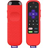 Protective Case for TCL Roku TV Steaming Stick 3600R Remote, Silicone Cover Shock Proof Remote Controller Skin, Anti Slip Universal Replacement Sleeve (Red)