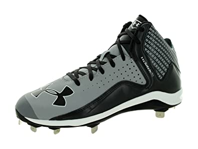 858d1a7006ed Amazon.com | Under Armour Men's UA Yard Mid ST Baseball Grey/Black Athletic  Shoe | Baseball & Softball