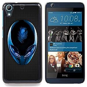 Blue Alien Caja protectora de pl??stico duro Dise?¡Àado King Case For HTC Desire 626 & 626s