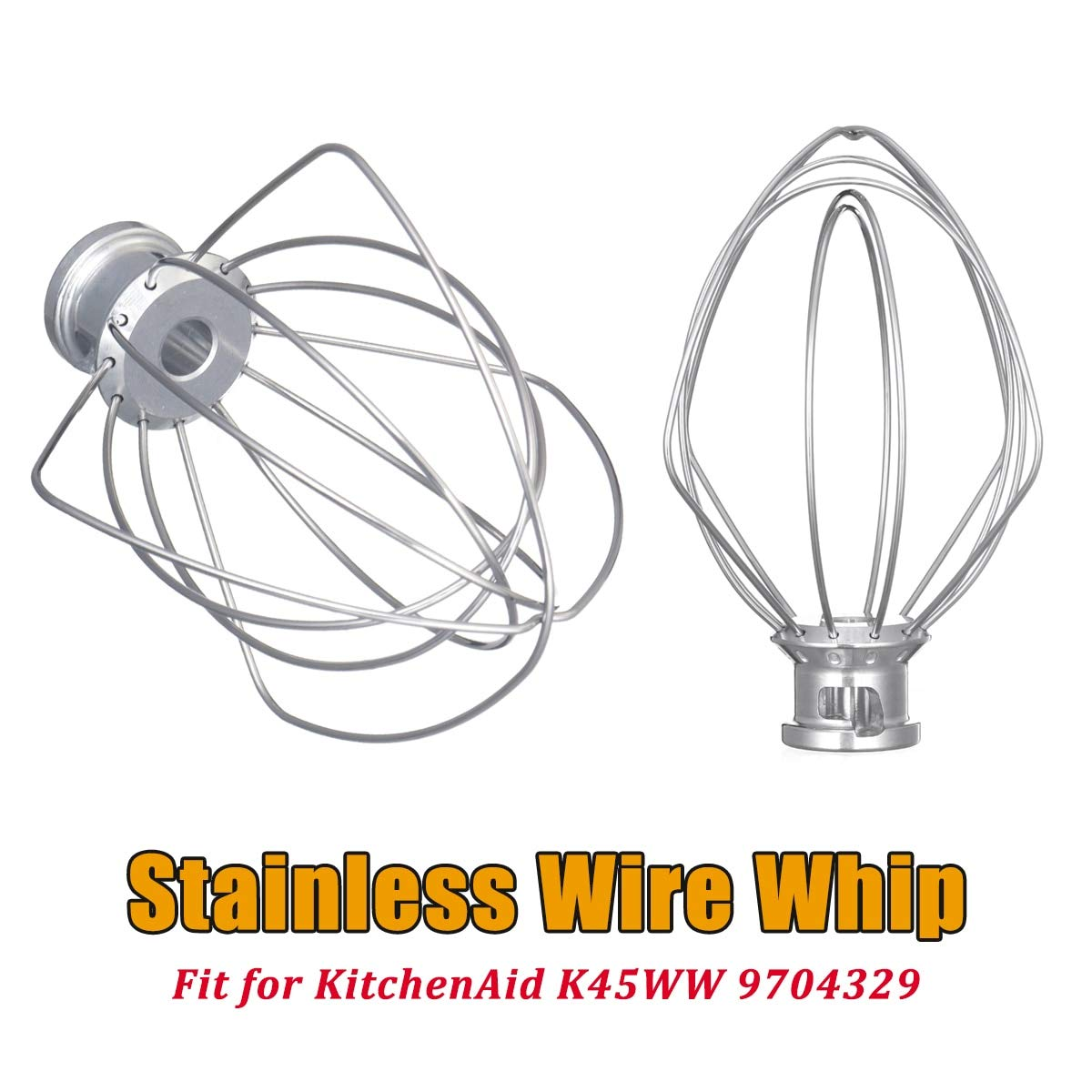 304 Stainless Steel Wire Whip Mixer Attachment For KitchenAid K45WW 9704329 For Mixers Milkshakes Noodle Makers
