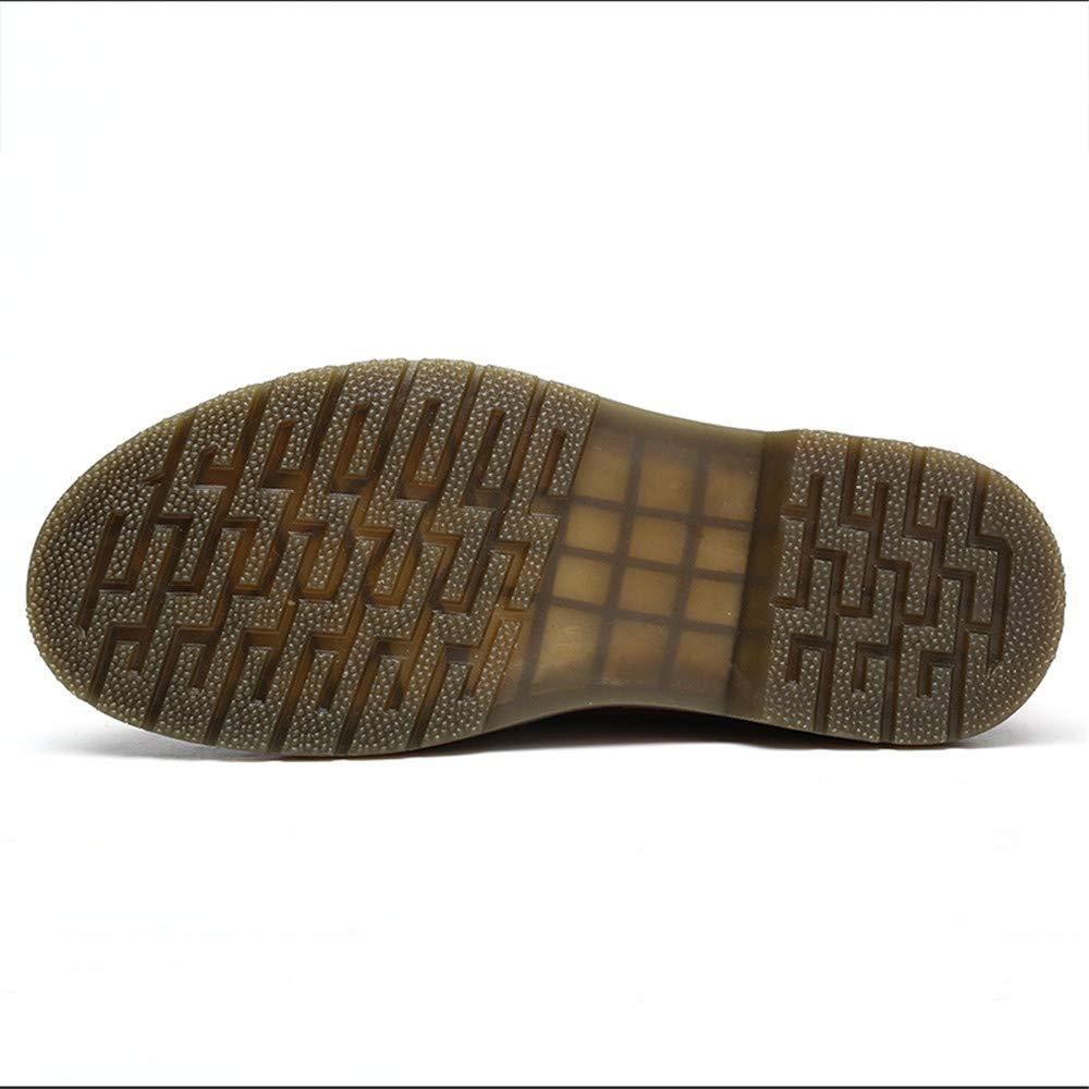 XHD-Schuhe Herren Einfache Business Oxford Casual Leder Arbeitskleidung Zehe Runde Zehe Arbeitskleidung Dicke Untere Formale Schuhe (Farbe   Braun, Größe   46 EU) 19bb36