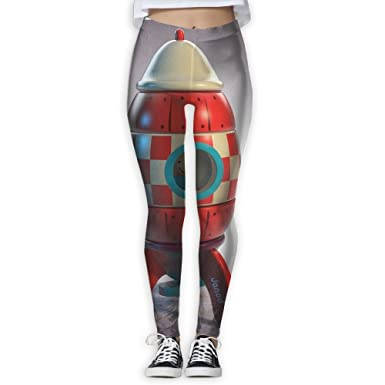 Amazon.com: Yoga Pants Red Rocket Cartoon Women Power Yoga ...