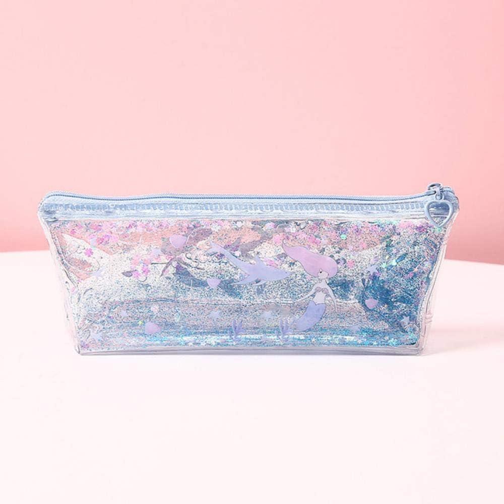 Estuche para lápices Kawaii, diseño de cerdo de sirena, de PVC, color YuLan: Amazon.es: Oficina y papelería