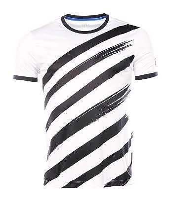 2cd8b866803 Armani EA7 homme - T-shirt manches courtes Blanc Armani EA7 3YPT76 PJ88Z   Amazon.fr  Vêtements et accessoires