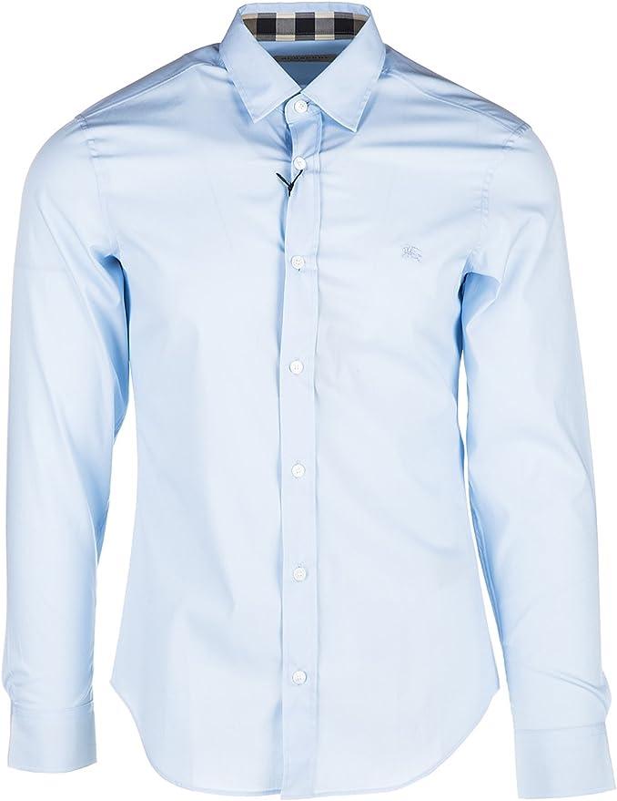 Burberry Camisa de Mangas Largas Hombre Cambridge BLU: Amazon.es: Ropa y accesorios