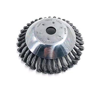 Cepillo giratorio de hierba de 8 pulgadas y 25 mm Cepillo de rueda ...