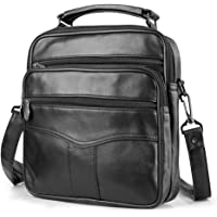 BAGZY Bolsos de Hombro Bolso de Piel de Oveja para Hombre Bandolera de Viaje Negocios Bolsos Cruzados Messenger Bag…