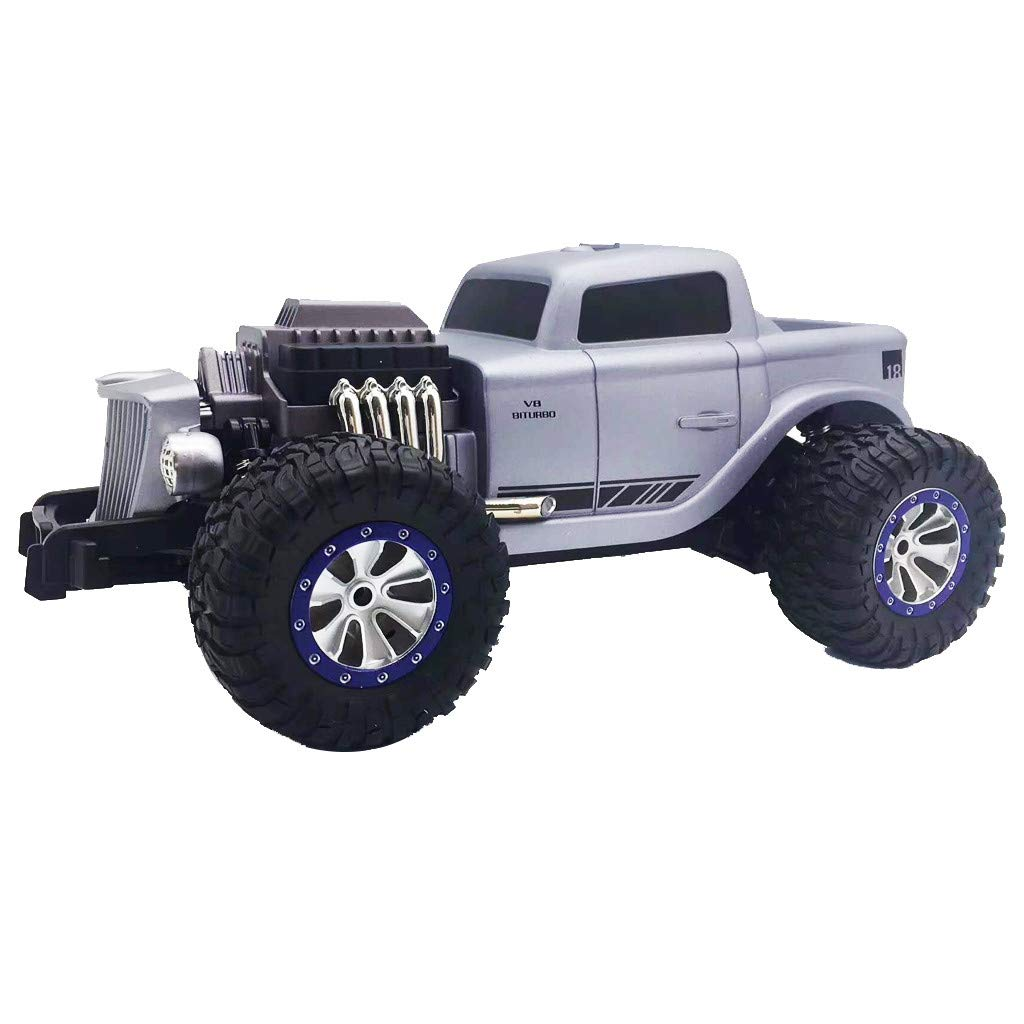 1/18 Scale RC Rock Crawler 4WD Off Road RC Truck 2.4Ghz 20KM/H High Speed Remote Control Monster Truck Desert Buggy RC Car for Ages 14+ by DaoAG (Image #2)