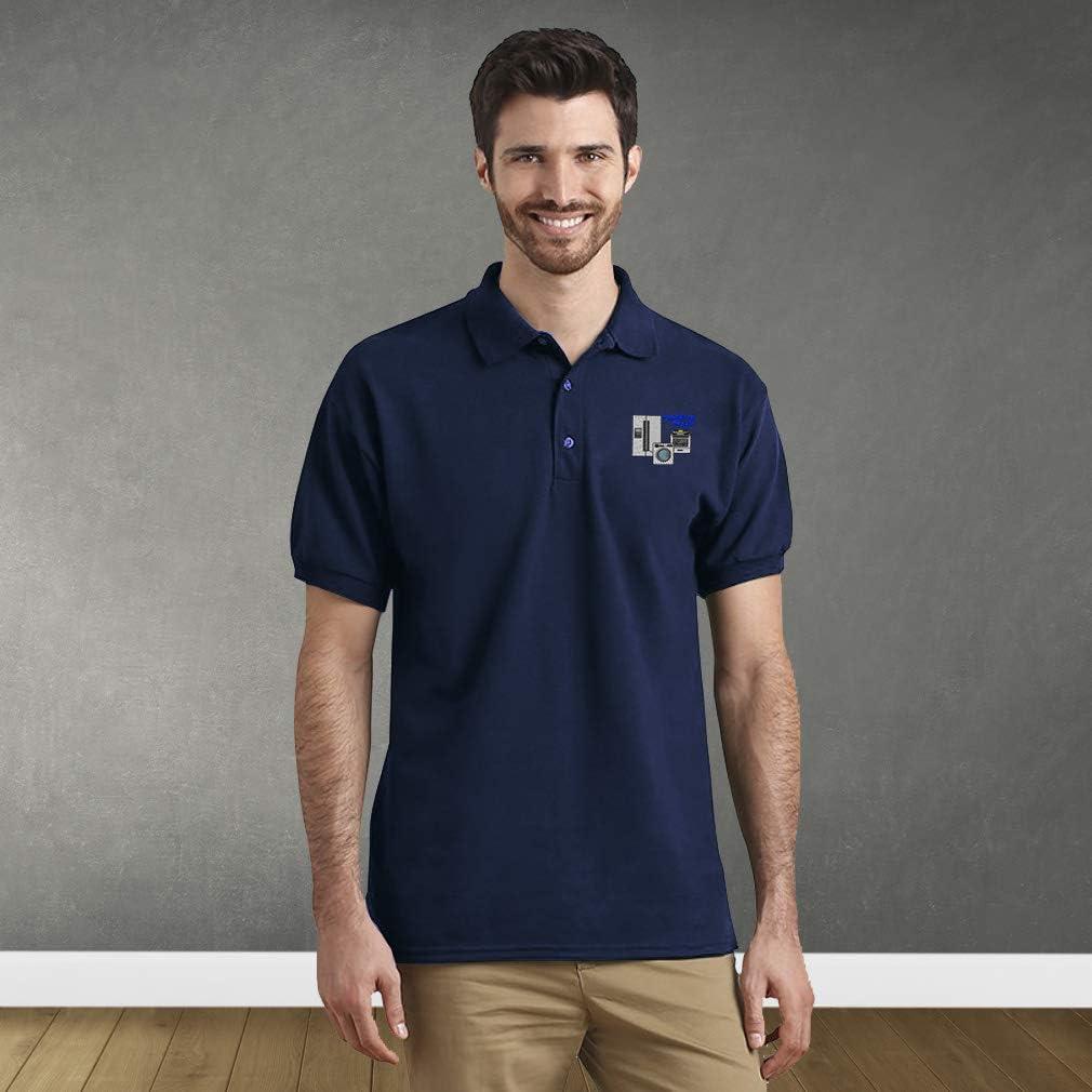 Loo Show Mens Air Force USA Embroidered Long Sleeve Polo Shirts Men Shirts