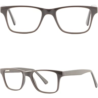 bfd6de719477d Image Unavailable. Image not available for. Color  Rectangular Womens Mens  Plastic Frames Gray Prescription Eyeglass Spring Hinges