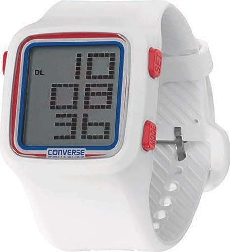 Converse Digital - Reloj (Reloj de Pulsera, Unisex, Silicona, Acero Inoxidable,