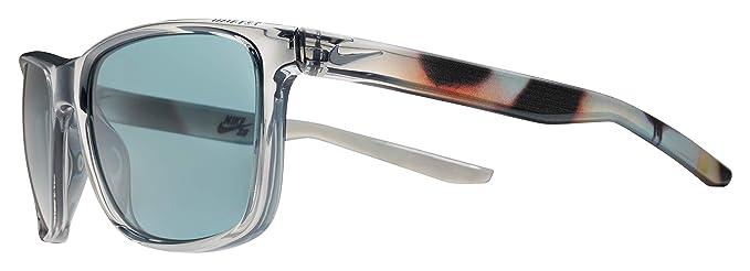 Nike Mens Unrest Se Rectangular Sunglasses Crystal Wolf Grey/Barcelona 57 mm