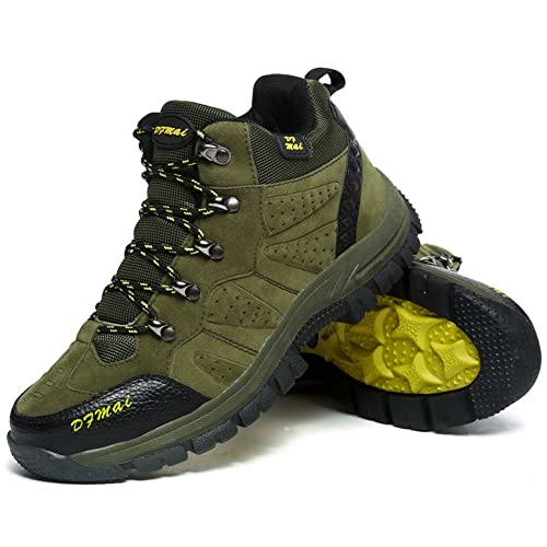 825fd9cca27 GOMNEAR Mens Hiking Boots Trail Mountain Shoes Walking Travel Outdoor Boots  Sneaker Plus