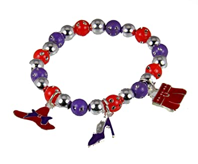 754fd7c09b3 Image Unavailable. Image not available for. Color  4030484 Red Hat Society  Club Redhat Lightweight Charm Bracelet Red Hatter