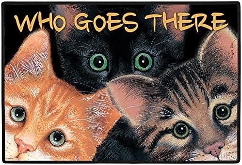 Home Gift Decor Peeping Toms Cat Cats Kitten Porch Doormat Door Mat