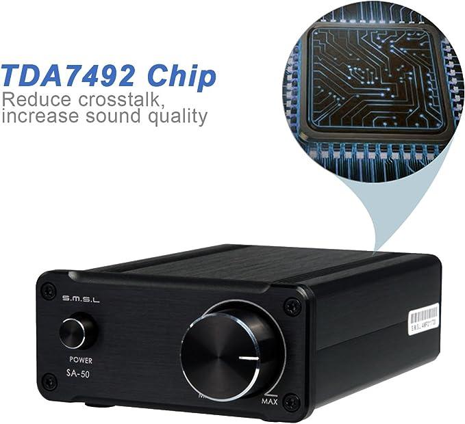 SMSL SA-50 T-AMP SA50 2 x 50 W Amplificador Digital Clase D Plata ...