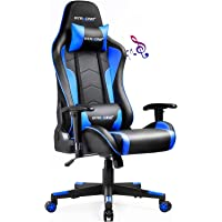 GTRACING Gaming Chair with Speakers Bluetooth Music Video Game Chair Audio Ergonomic Design Heavy Duty Office Computer…