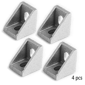 GMSP 4 Piezas de Soportes de Esquina en ángulo de Aluminio ...