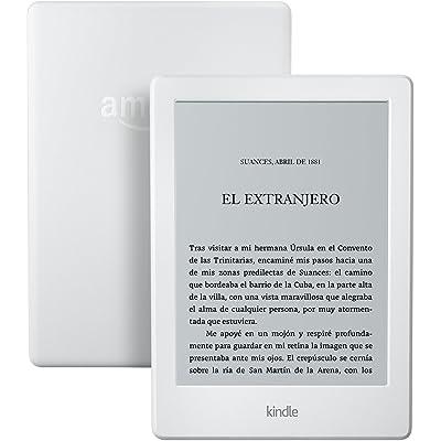 Kindle, pantalla táctil de 6'' (15,2 cm), sin luz integrada, wifi, blanco (8.ª generación, modelo anterior)