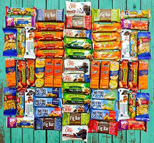 Ultimate Healthy Office Bars, Snacks & Nuts Bulk Variety Pack - Travel Snack Box - Military Care Package (60 (Bulk Snacks)
