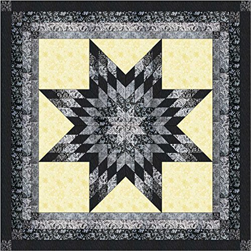 Lonestar Shades of Black, White, and Gray Quilt Kit/Queen/EXPEDITED SHIPPING by Robt Kaufman/Galaxy