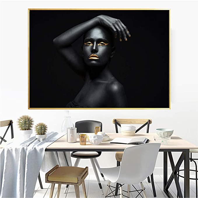 RTCKF African Selfie Art Black Modern Girl Decoración Poster ...