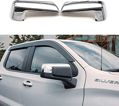 CHEVY TAHOE SUBURBAN CHROME SIDE MIRROR TOPHALF COVERS CLIP ON REPLACE FOR 2015