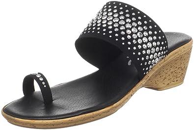 Onex Women's Ring Sandal,Black/Silver,5 ...