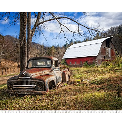 - Barn & Truck Cotton Fabric Panel