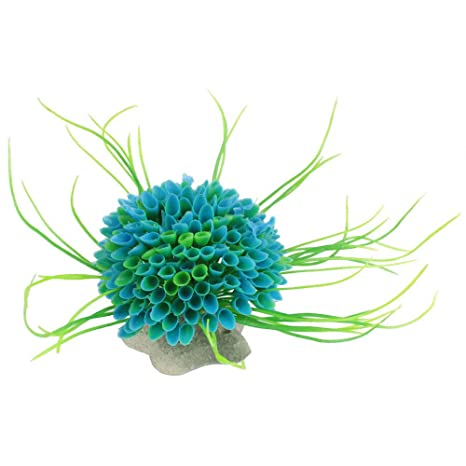 TOOGOO Plantas marinas simuladas de plastico de decoracion Flora para pecera acuario