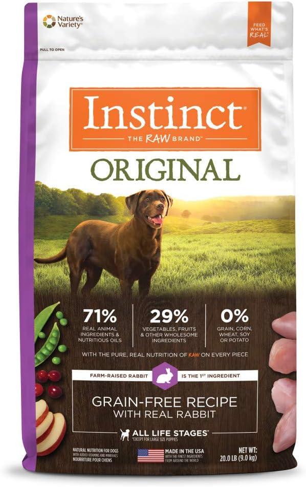 Instinct Grain Free Dry Dog Food, Original Raw Coated Natural High Protein Dog Food