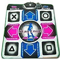 OSTENT Non-Slip Dance Revolution Dancing Pad Mat Compatible for Sony PS1 / PS2 Playstation Console Video Games