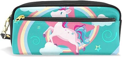 Estuche escolar con diseño de unicornio de dibujos animados para lápices y cosméticos, bolsa de viaje de gran capacidad: Amazon.es: Oficina y papelería
