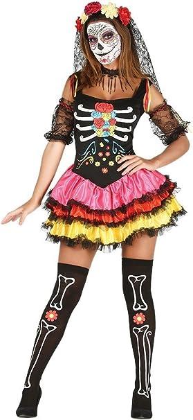 Giorno dei morti Costume Senorita Costume Halloween Donna Scheletro Bambini UK