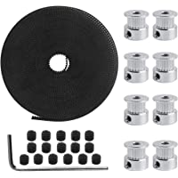 Dadabig 26 ST 3D-kuggremssats, GT2 20 kuggrullehjul 5mm + 5M GT2 kuggrem 6 mm bredd med insexnyckel för 3D-skrivare