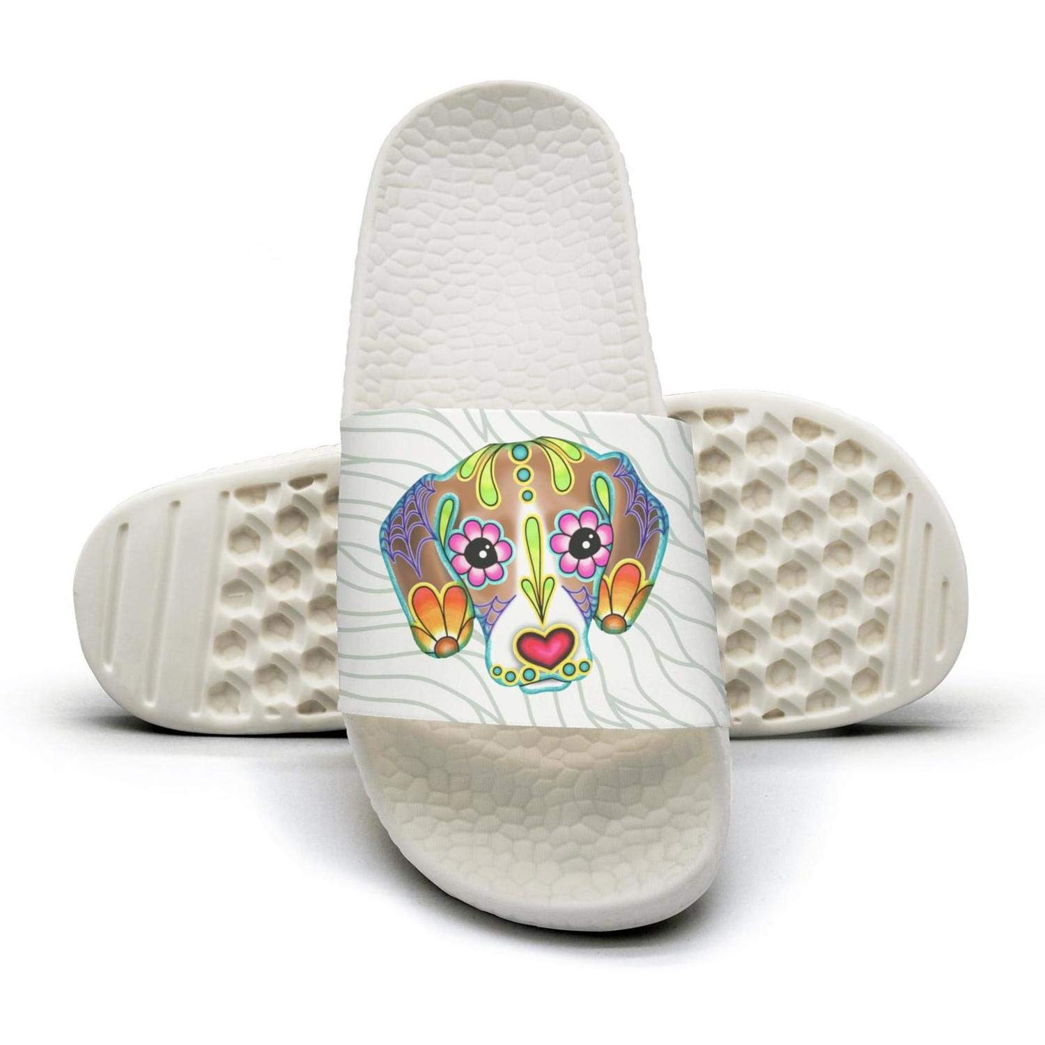 Colorful art dog flip flops Slippers for Men by AKDJDS
