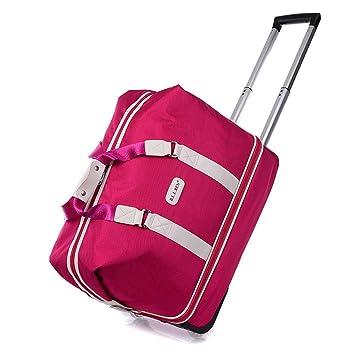 WQING Bolso de Viaje para Mujer Bolsa de Viaje Equipaje Equipaje de Fin de Semana Bolso con Ruedas,Pink: Amazon.es: Deportes y aire libre