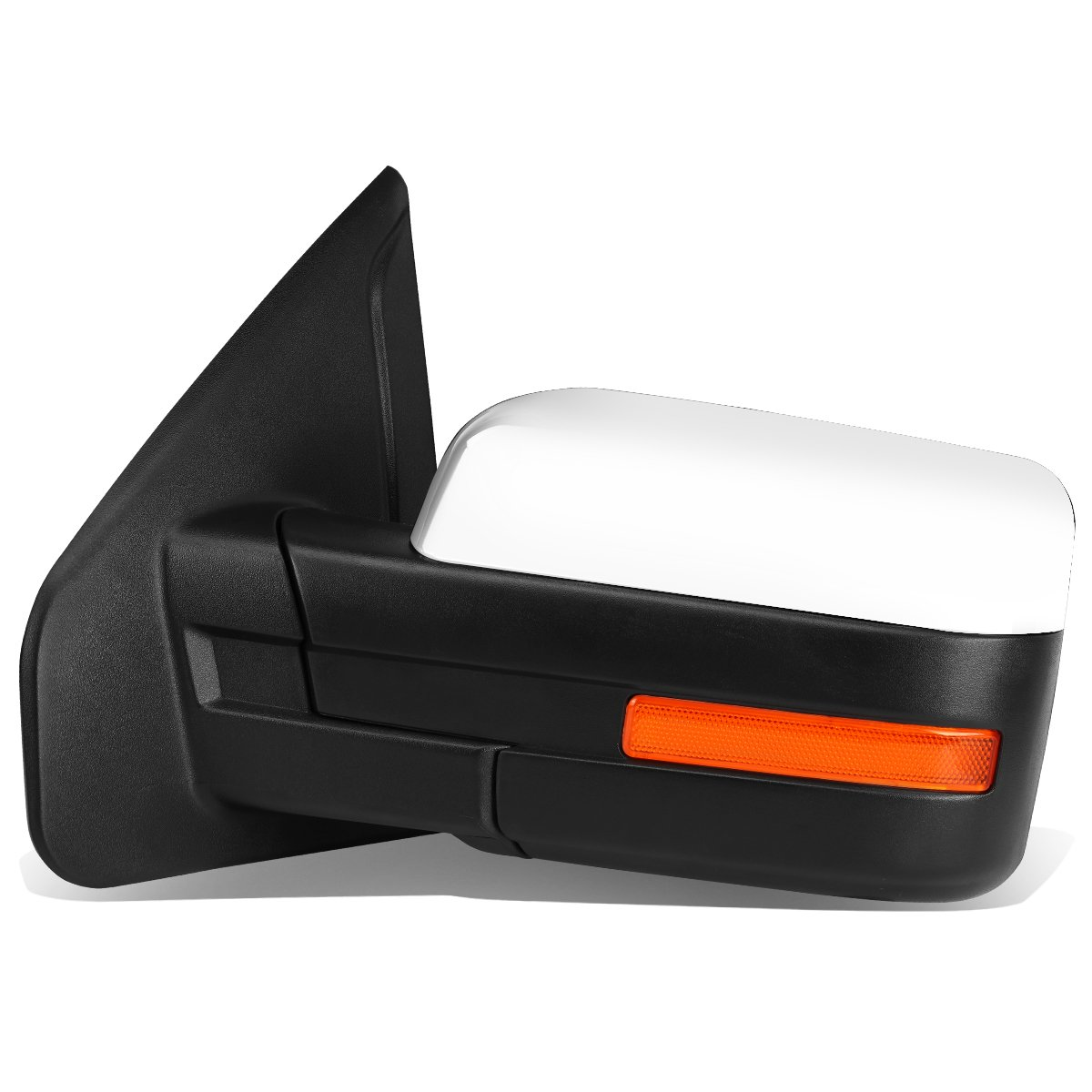 For Ford F150 Chrome Powered Heated Glass + Turn Signal Light Side Towing Mirror (Left/Driver)