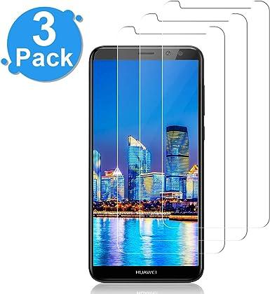 NONZERS [3-Unidades] Protector de Pantalla Vidrio Cristal Templado para Huawei Mate 10 Lite Smartphone Cristal Vidrio Templado Film (9H, 2.5D Edge, 0.3mm): Amazon.es: Electrónica