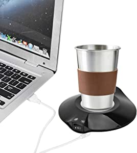 ASHATA USB Office Coaster Smart Coffee Warmer Cup Insulated Pad Mat, Portable Mug Warmer for Desk,Electric Cup Beverage Warmer Plate,for Tea,Water,Coc