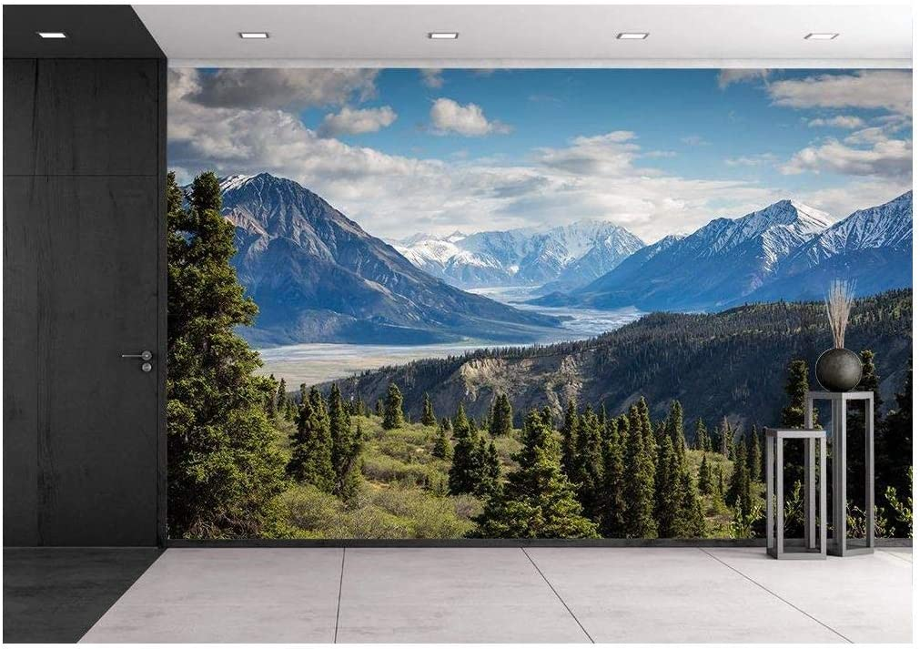 wall26 Mountain Range View - Removable Wall Mural | Self-Adhesive Large Wallpaper - 100x144