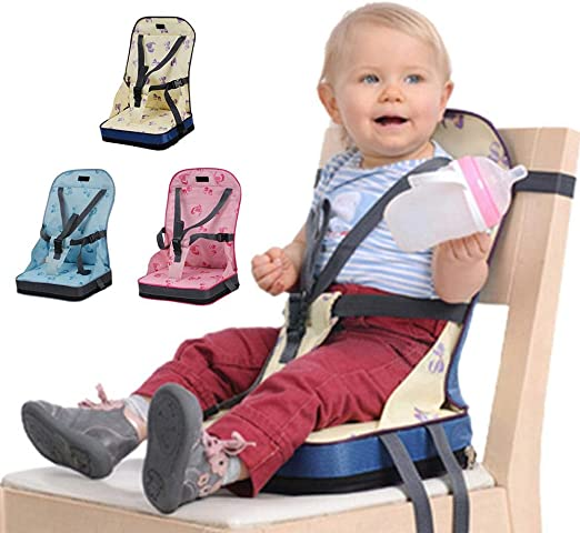 Volwco Foldable Baby Booster Seat, Infant Toddler High Chair
