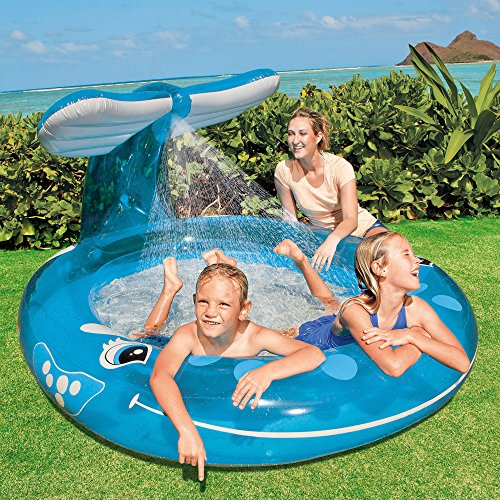 "Intex Whale Spray Pool, 82"" X 62"" X 39"", for Ages 2+"