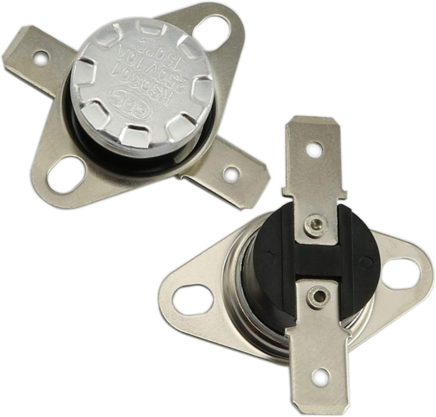 RuiLing 2-Pack KSD-01F Thermostat N.C Normally Close 90 Degree Centigrade Temperature Sensor Thermal Switch
