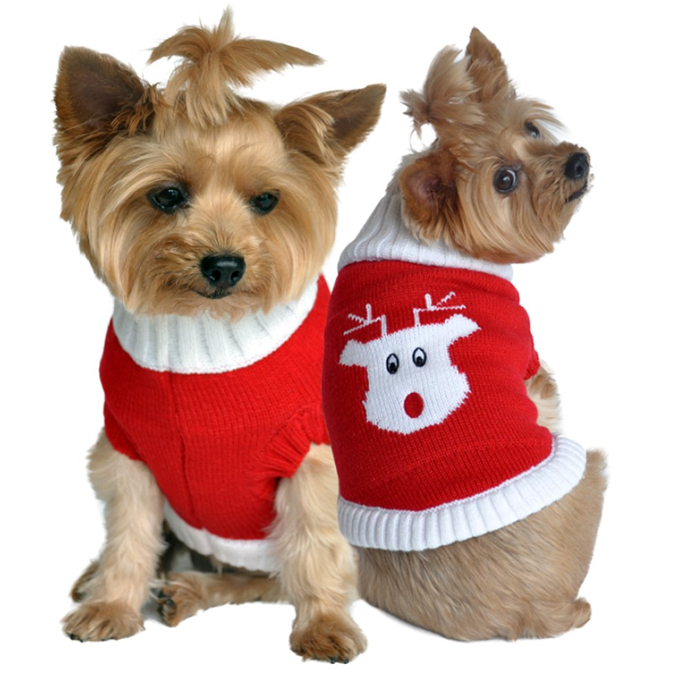 Red S Red S Doggie Design Fall Sweaters (Red, S) by Doggie Design