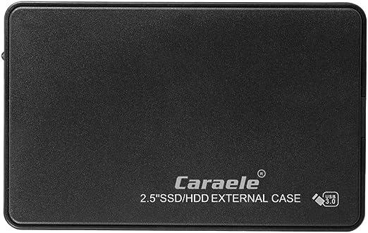 2.5インチ USB3.0 SATA 外付ハードドライブ HDDエンクロージャー ブラック - 2T