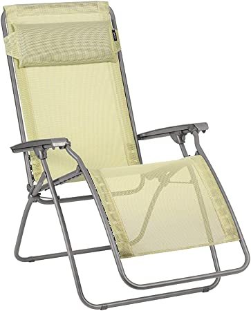 Lafuma Relaxe Recliner, Folding and Adjustable, R Clip, Batyline, Colour: Etamine, LFM4020 9267, Étamine