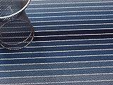 Chilewich Shag Indoor/Outdoor Big Mat Block Stripe Denim 36'' x 60''