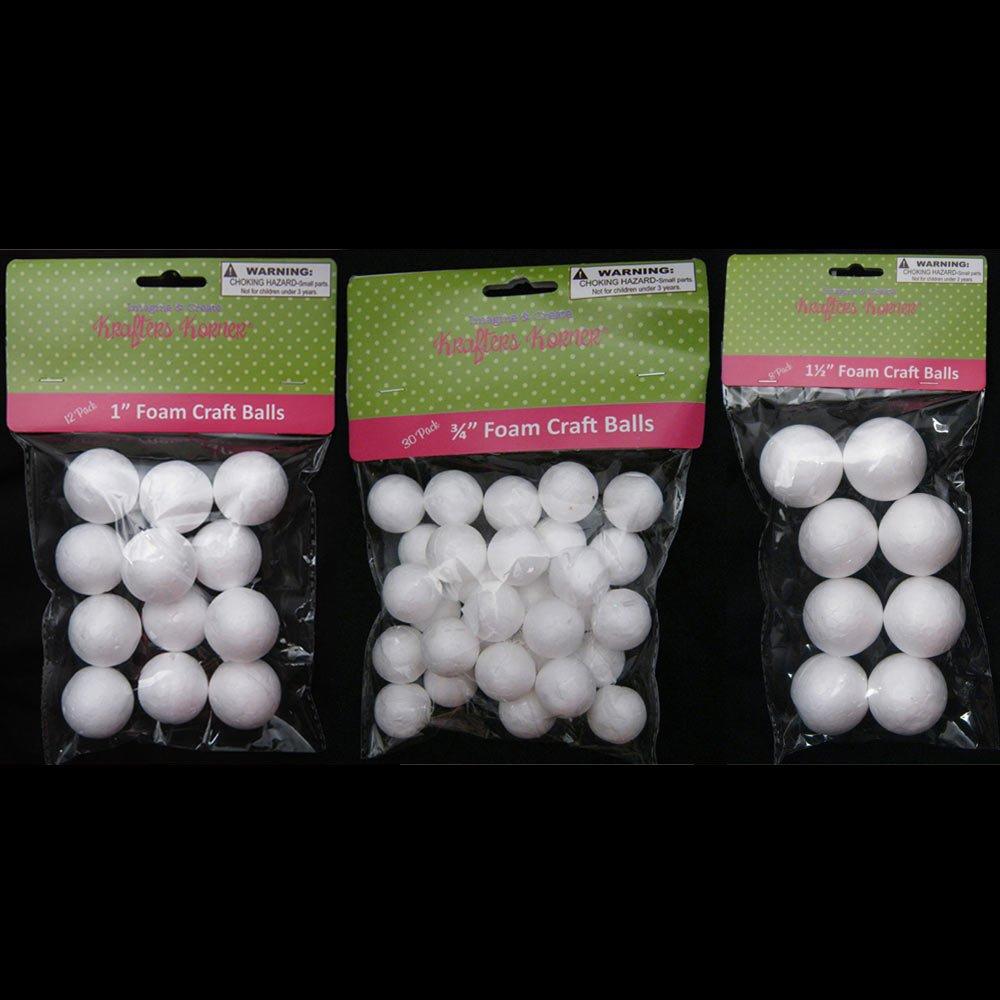 Foam ball craft - Amazon Com 50 Foam Polystyrene Art Craft Styro White Balls Project Styrofoam 3 4 1 1 1 2