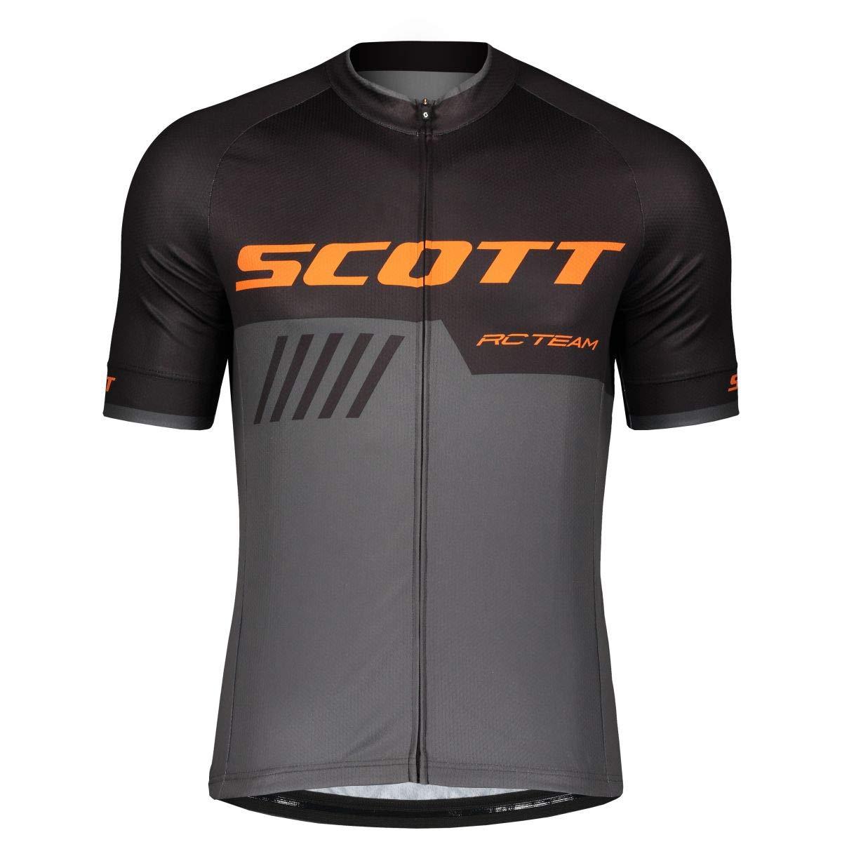 Scott RC Team 10 Fahrrad Trikot kurz grau/schwarz 2019